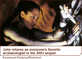 Jolie returns as everyone's favorite archaeologist in the 2003 sequel.
