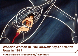 Wonder Woman in The All-New Super Friends Hour in 1977