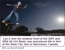 Lyn-Z Adams-Hawkins is one of the top female skateboarders in the world.