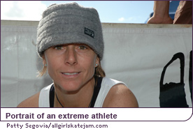 Portrait of an extreme athlete