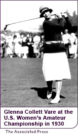 Glenna Collett Vare at the  U.S. Women's Amateur Championship in 1930