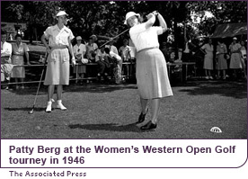Patty Berg at the Women's Western Open Golf tourney in 1946