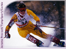 Picabo Street in 1995 in Val d'Isere, France