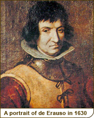 A portrait of de Erauso in 1630
