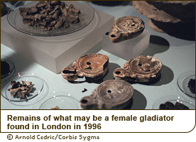 Remains of what may be a female gladiator found in London in 1996