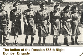 The ladies of the Soviet 588th Night Bomber Brigade