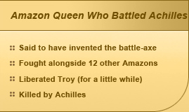 Amazon Queen Who Battled Achilles